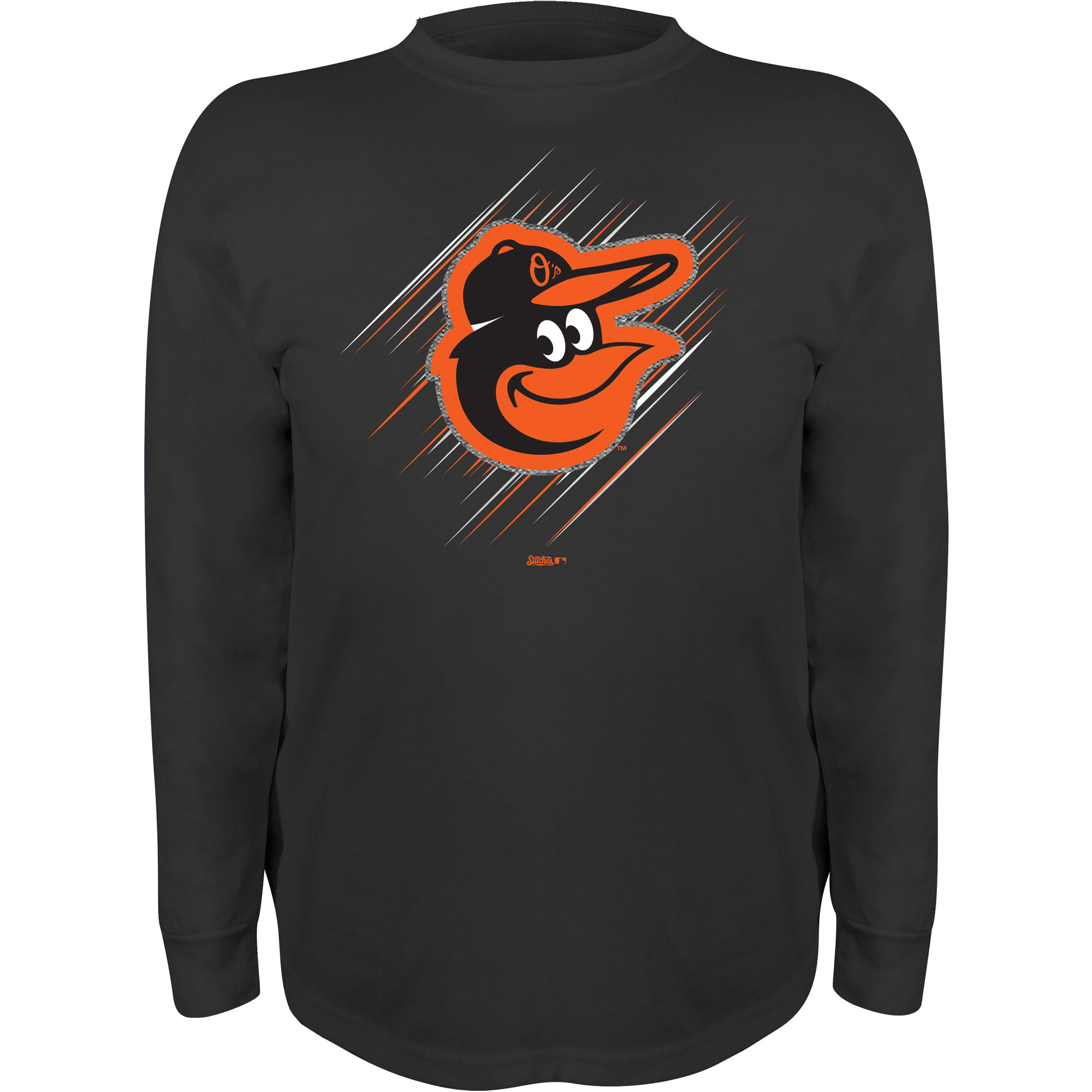 Baltimore Orioles Stitches Youth Team Logo Long Sleeve T-Shirt - Black