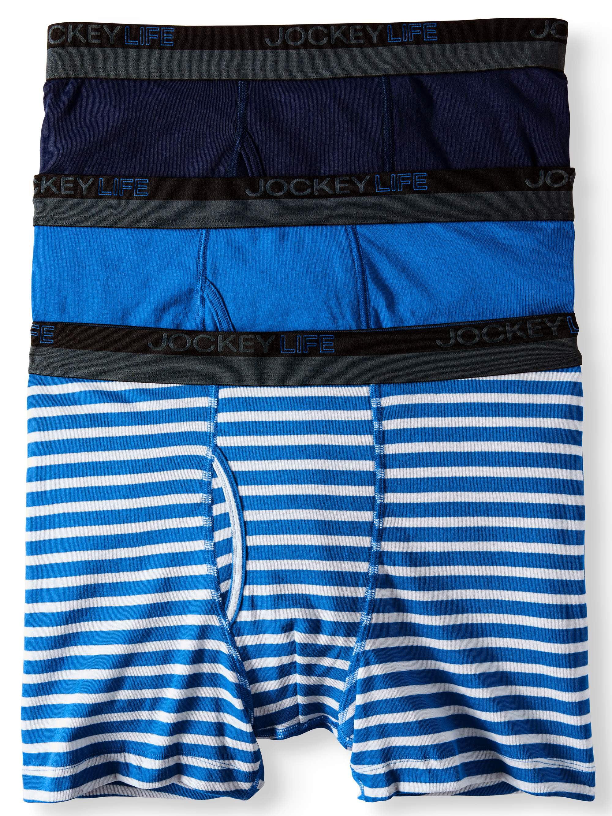Jockey Life Men's 24/7 Comfort Cotton Blend Boxer Brief - 3 pack