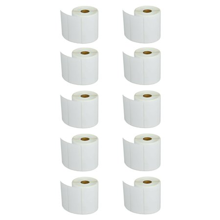 GREENCYCLE 10 Roll (810 Labels/Roll) White Die Cut Paper Label Mobile Solution Barcodes Tapes Compatible for Brother RDS03U1 4