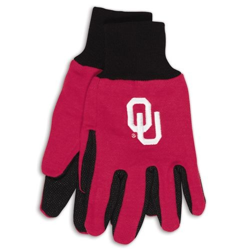 Oklahoma Sooners Official NCAA One Size Sport Utility Work Gloves by Wincraft by Wincraft
