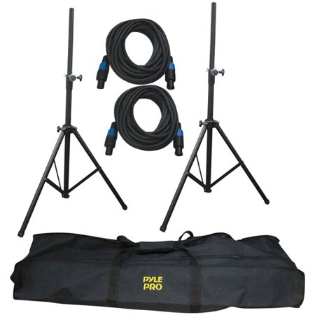 Pyle Pro PMDK101 Heavy-Duty Pro Audio Speaker Stand and Speakon Cable Kit