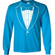 Tuxedo Long Sleeve T-Shirt Tuxedo With Bowtie