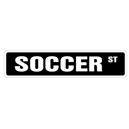 Player Street Sign - SOCCER Street Sign soccer team player ball signs | Indoor/Outdoor |  24