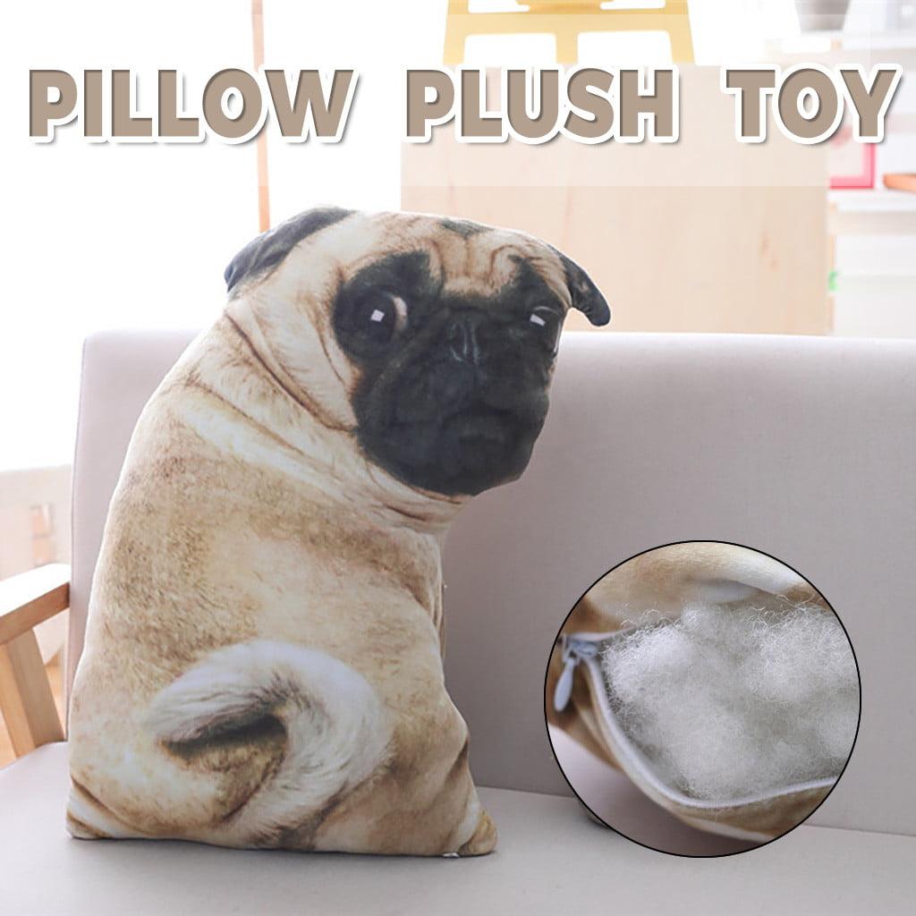 Pug Dog Plush Pillow Cute Animal Sleep Pillow 55cm Bed Home Decor Throw Pillow