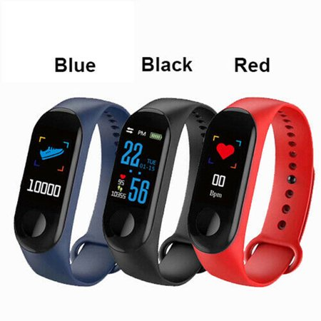 Smart Band Blood Pressure M3 Fitness Tracker Watch IP67 Swimming Waterproof GPS Tracker Heart Rate Monitor Smartband Men