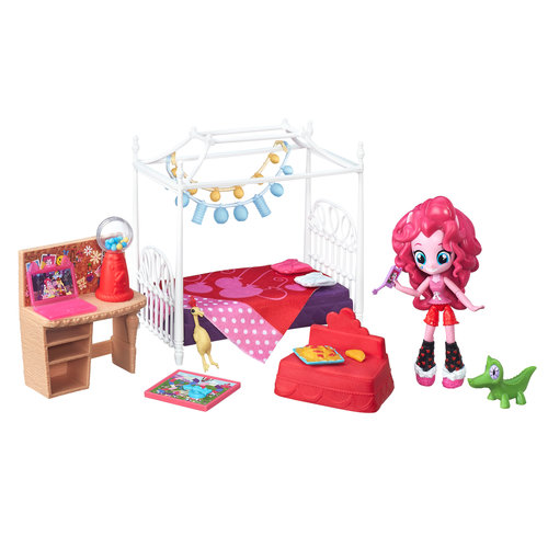 My Little Pony Equestria Girls Minis Pinkie Pie Slumber Party Bedroom Set by