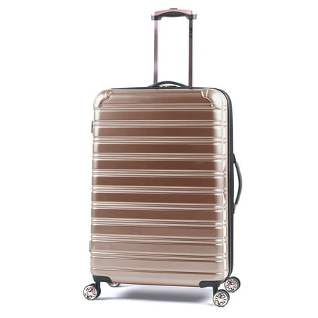 iFLY Hard Sided Fibertech 28u0022 Checked Luggage, Rose Gold Luggage