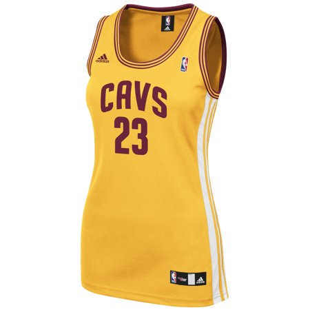 Cleveland Cavaliers Adidas NBA Lebron James #6 Womens Player Jersey (Gold) by