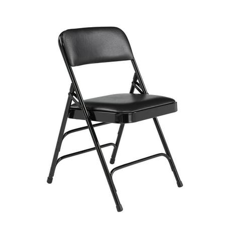 (4 Pack) NPS® 1300 Series Deluxe Vinyl Upholstered Triple Brace Double Hinge Folding Chair, - Deluxe Easy Chair