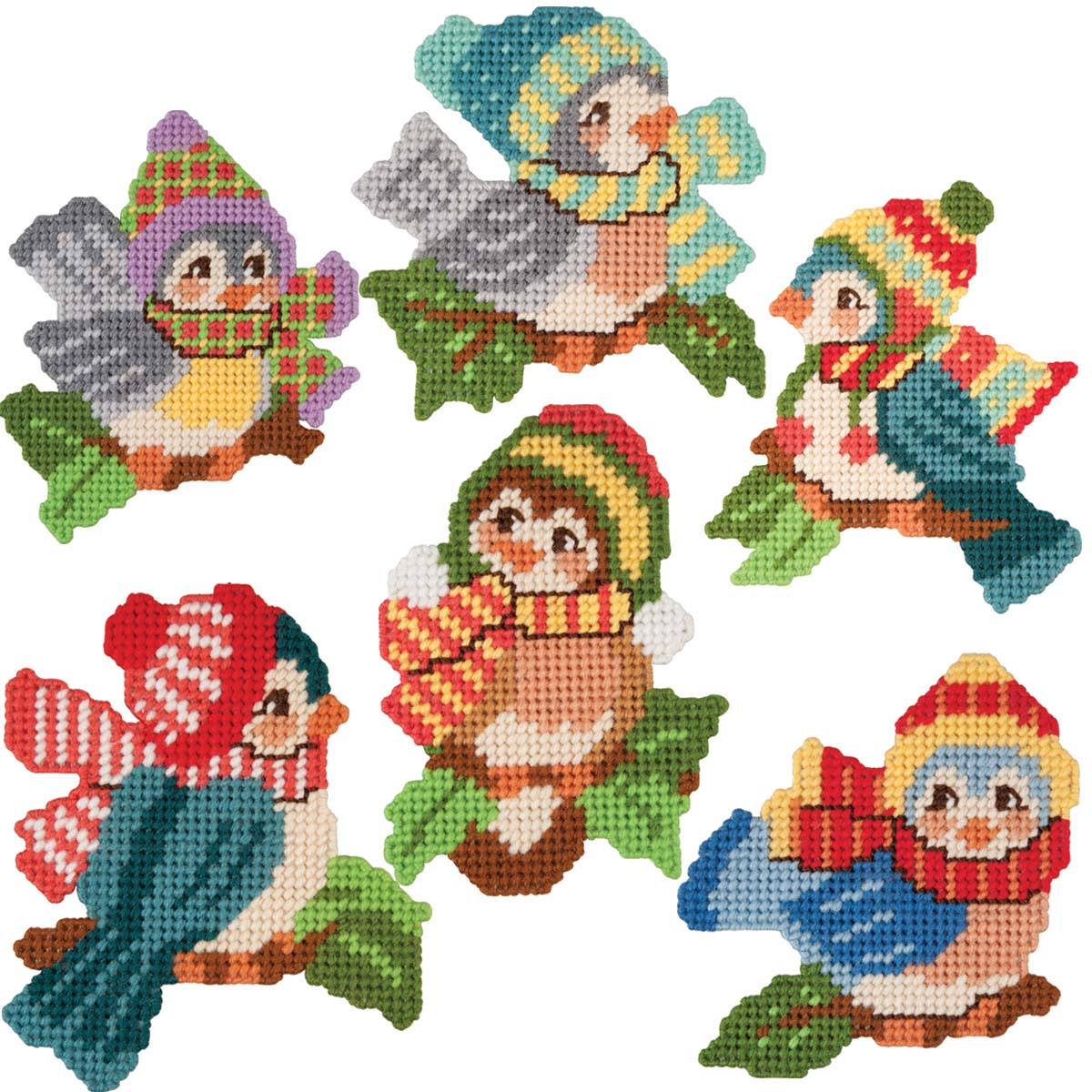 Herrschners® Winter Birds Ornaments Plastic Canvas Kit