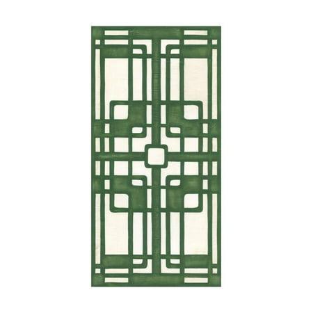 Non-Embellish Emerald Deco Panel I Print Wall Art By Erica J