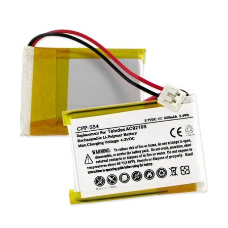 Empire CPP-554 Teledex AC9210S 3.7V 650 mAh Li-Poly Battery - 2.4 watt - image 1 of 1