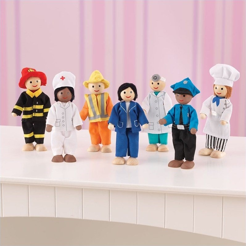 KidKraft Professionals Doll Set, Set of 7