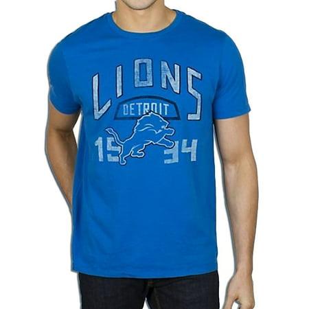 Nfl Detroit Lions Kick Off Crew Blue Adult Mens T Shirt