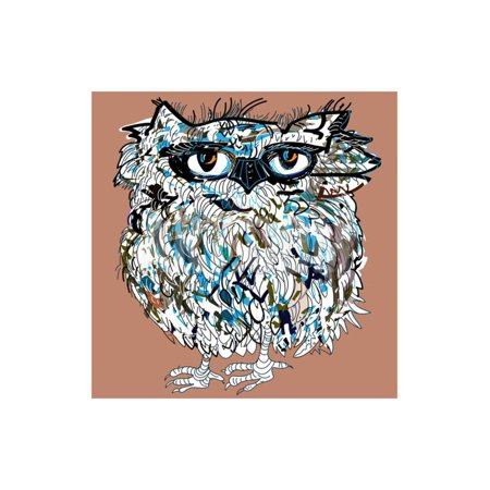 Owl, Symbol of Halloween, Vector Illustration. Illustration for T-Shirt. Print Wall Art By De Visu (Pixel Art De Halloween)