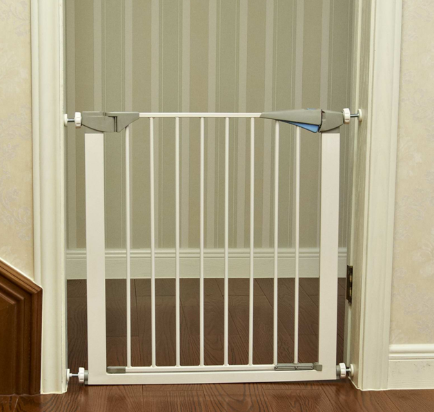 Zimtown Baby Safety Gate Door Metal Walk Thru Pet Dog Cat Fence Child  Toddler