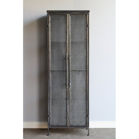 Gracie Oaks Lindauer Tall Metal 2 Door Accent Cabinet