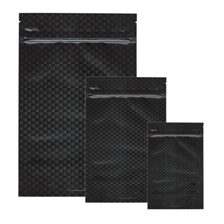 10pk - Stealth Smell Proof Bags - Carbon Fiber (Best Smell Proof Bag For Weed)