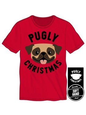 8004eaf6a0f Product Image Men s Happy Pug Pugly Christmas Soft Hand Print Shirt-Medium