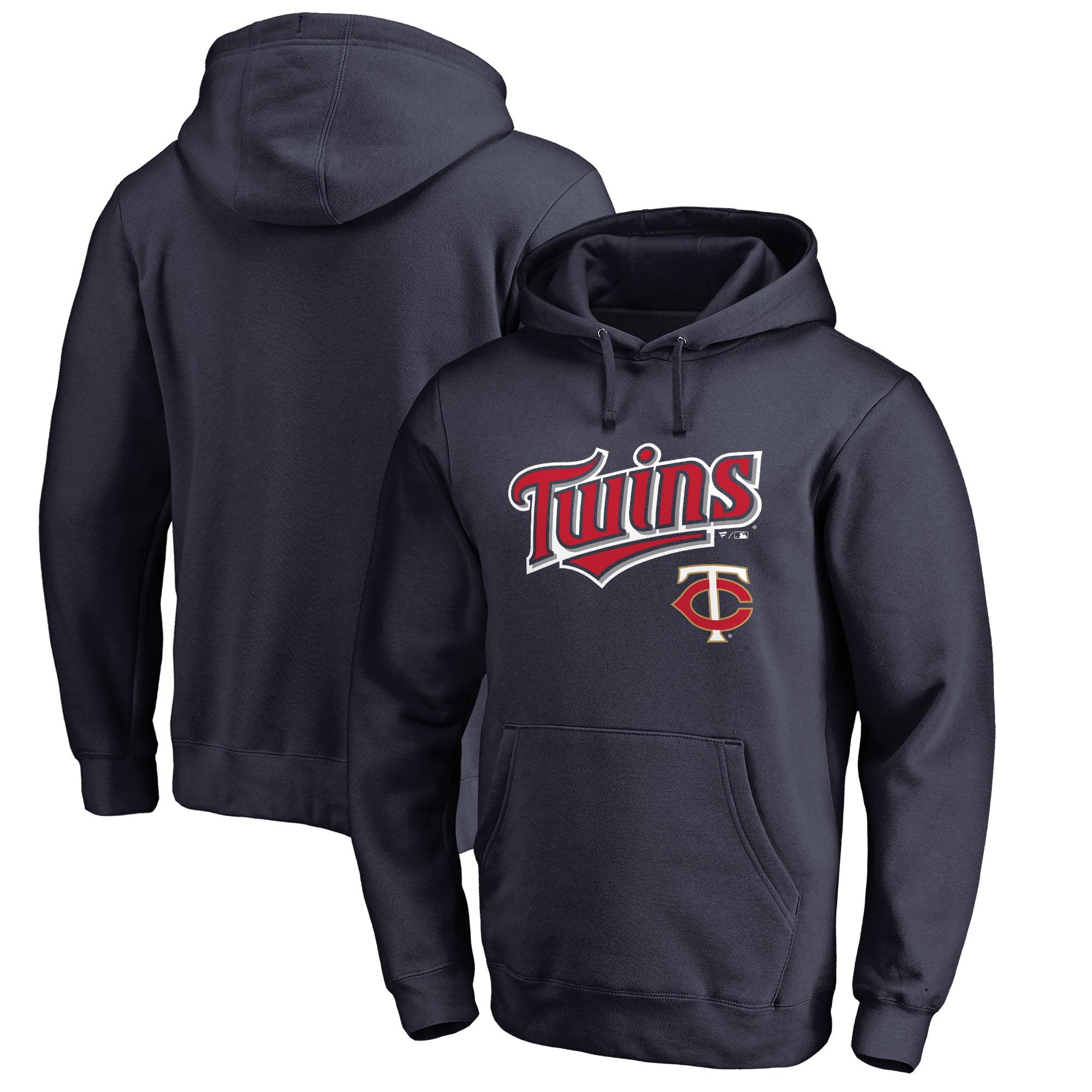 Minnesota Twins Fanatics Branded Team Lockup Pullover Hoodie - Navy