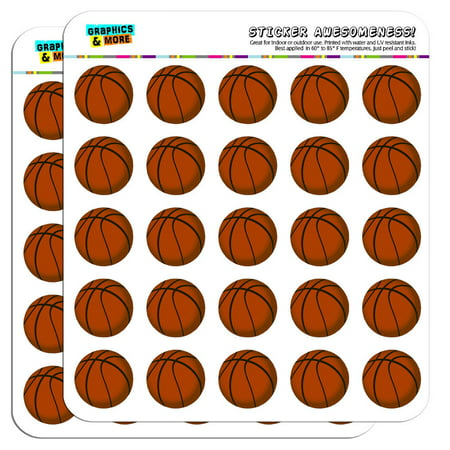 "Basketball 1"" Scrapbooking Crafting Stickers"