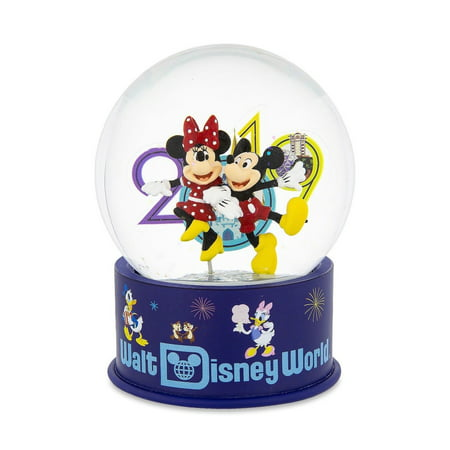 Disney Parks 2019 WDW Mickey Minnie and Friends Snow Globe New with