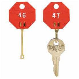 MMF Self-Locking Octagonal Key Tags, Tags 1-20, Red Self-Locking Octagonal Key Tags 5312726AA07 - Tags 1-20, Red, Lot of 1