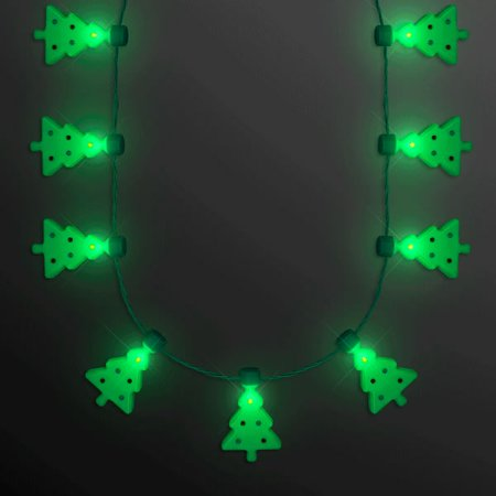 Merriest Little Christmas Tree Flashing Holiday Lights Necklace by Blinkee](Flashing Christmas Light Necklace)