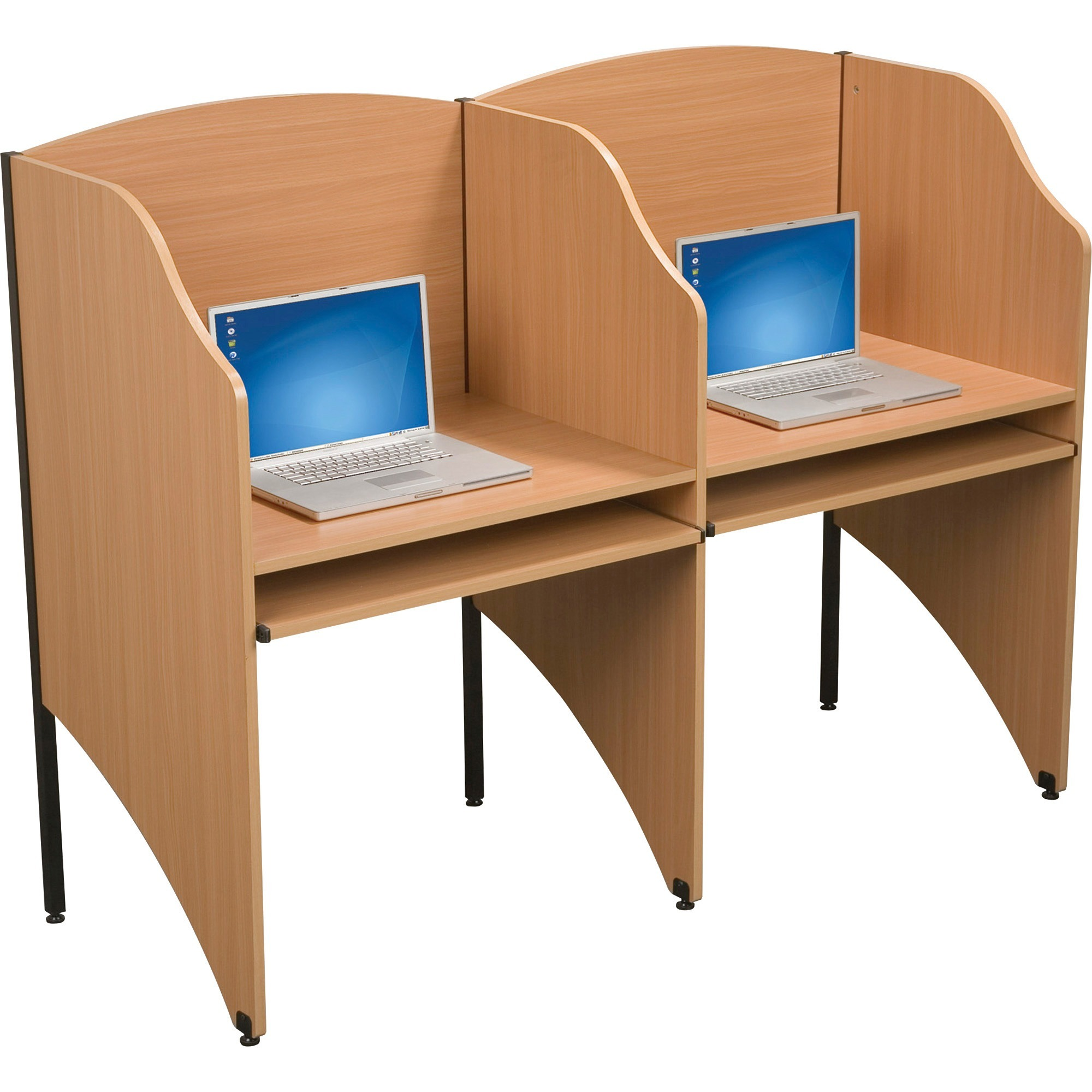 BALT Add-A-Carrel, Laminate, 32-3/4w x 24-1/2d x 48h, Teak