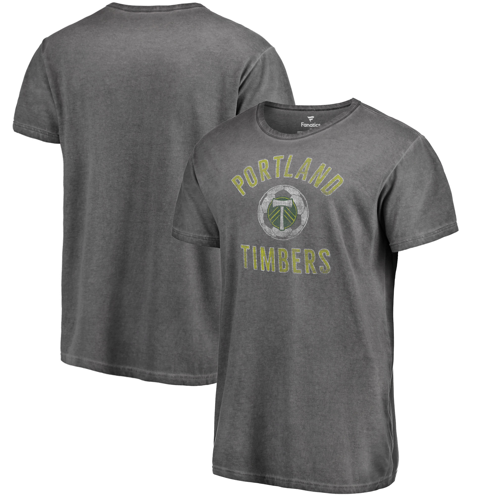 Portland Timbers Fanatics Branded Shadow Washed Icon T-Shirt - Black