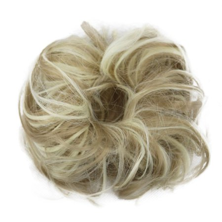 Curly Messy Bun Hair Piece Hair Scrunchie Fake Natural Look Extensions  Hairpiece - Walmart.com b71e3a633