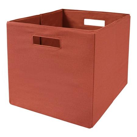 Better homes and gardens fabric storage bin single clay brick for Better homes and gardens storage bins