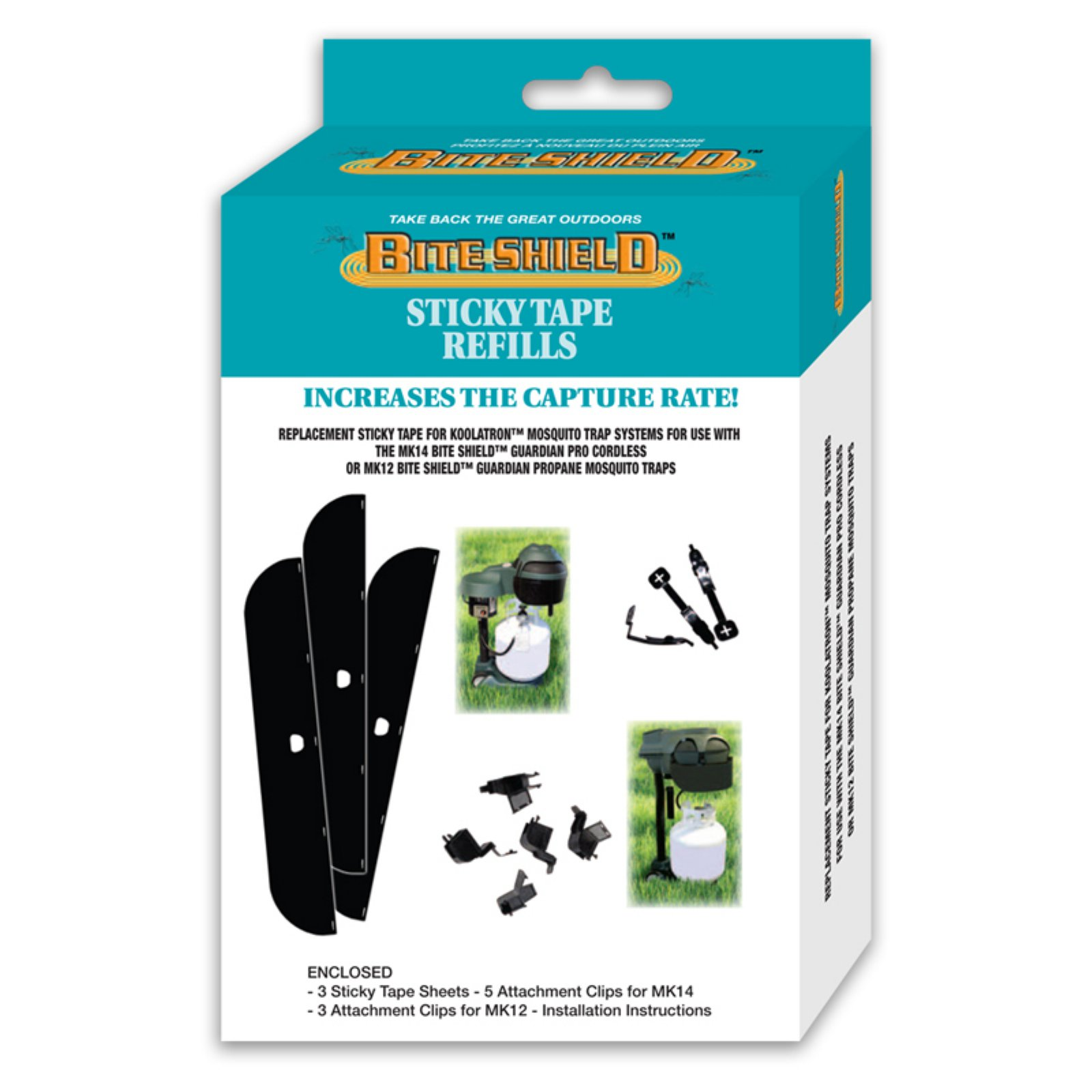 Bite Shield Mosquito Trap Sticky Paper 3 Pack Refill by Koolatron
