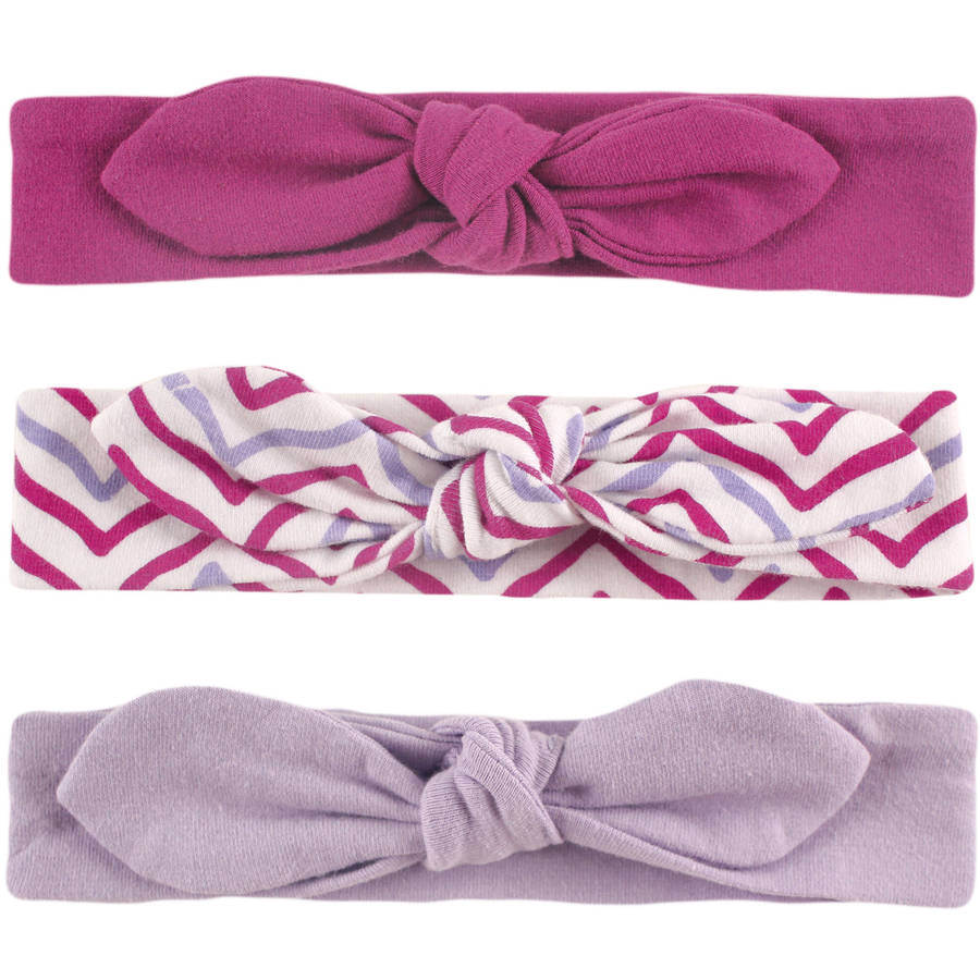 Yoga Sprout Newborn Baby Girls Headband 3-Pack - Lotus