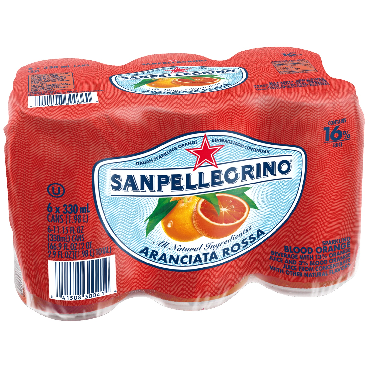 SANPELLEGRINO Blood Orange Sparkling Fruit Beverage 24-11.15 fl. oz. Cans