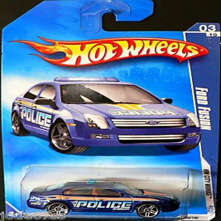 City Fusion - Hot Wheels 2009-109 Ford Fusion Blue Police HW City Works 3 of 10 1:64 Scale
