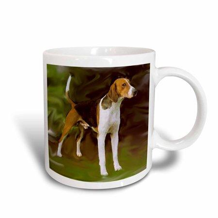 American Ceramic (3dRose American Foxhound, Ceramic Mug, 11-ounce)