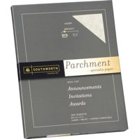 Southworth, SOUP984CK, Parchment Specialty Paper, 100 / Pack, Ivory