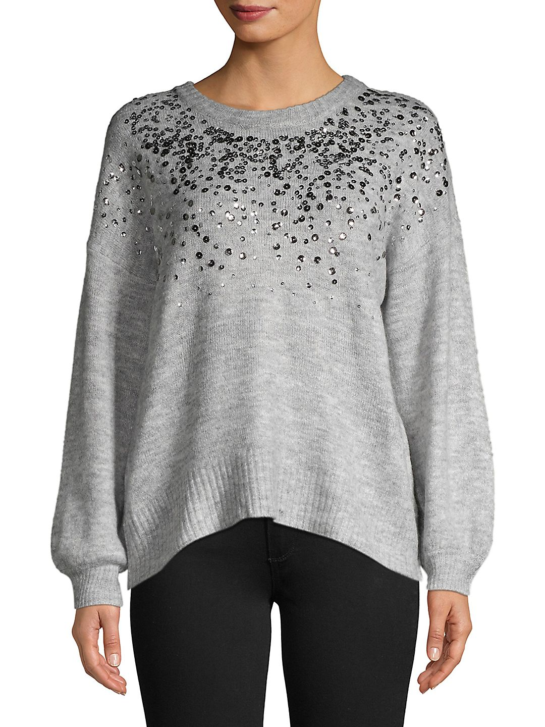 Sequin Sprinkle High-Low Sweater