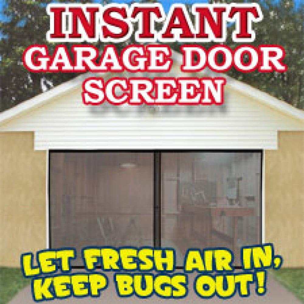 instant double car garage door screen walmartcom - Screen For Garage Door