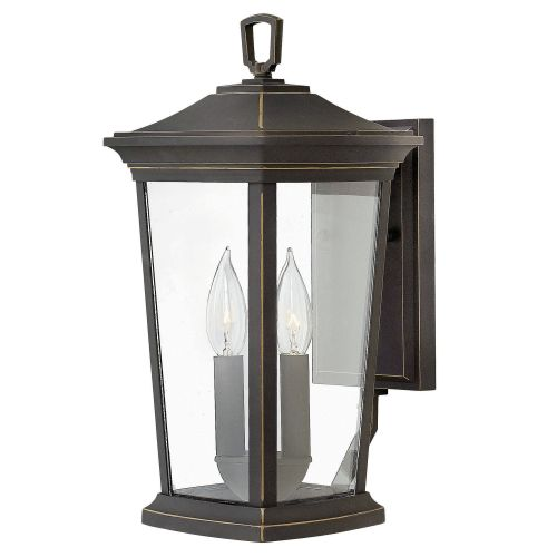 """Hinkley Lighting 2360 Bromley 2-Light 15-1/2"""" High Outdoor Wall Sconce with Clear Glass Shade"""