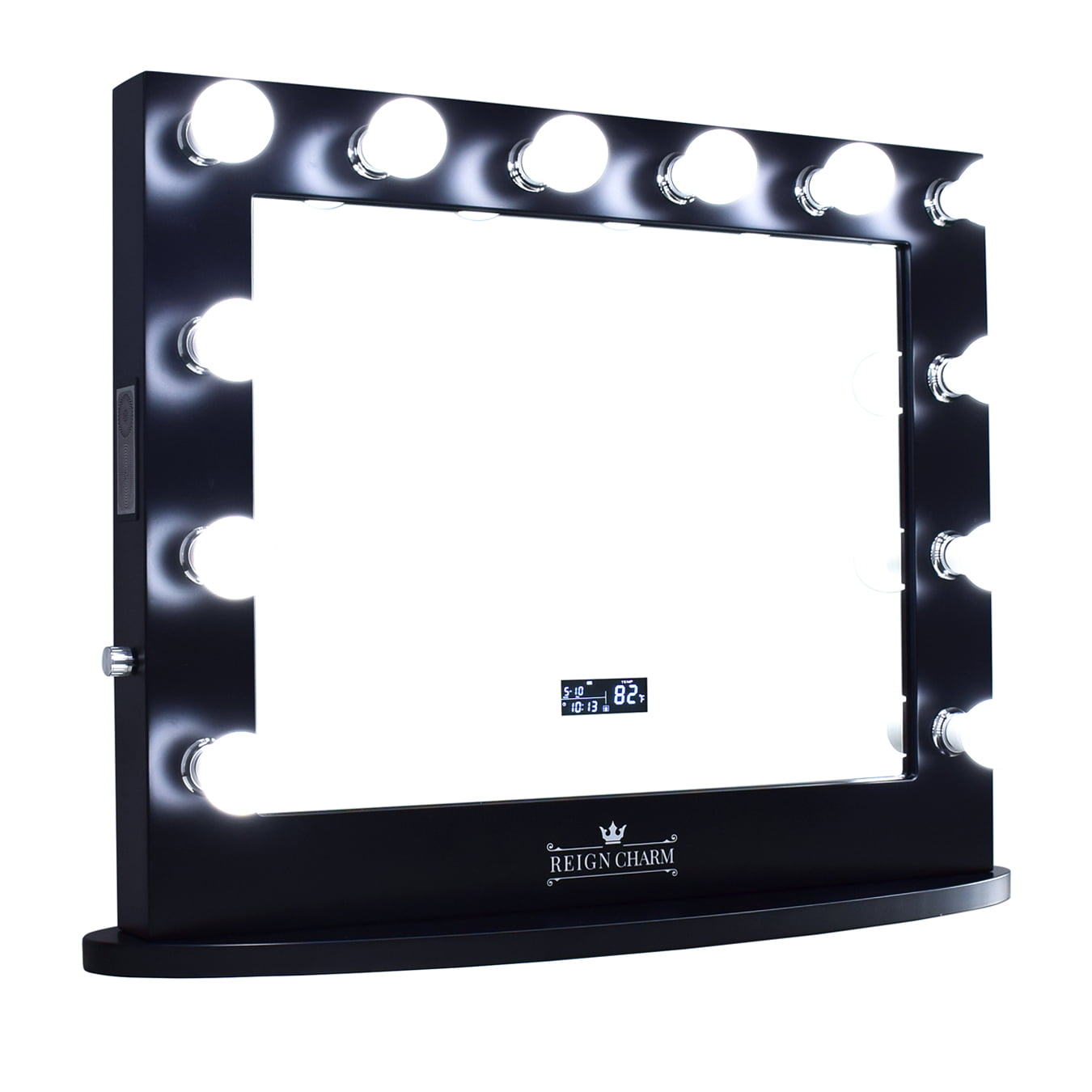 ReignCharm Hollywood Vanity Mirror with Bluetooth Speakers, 12 LED Lights, Dual Outlets & USB, 32-inches x 27-inches,... by ReignCharm