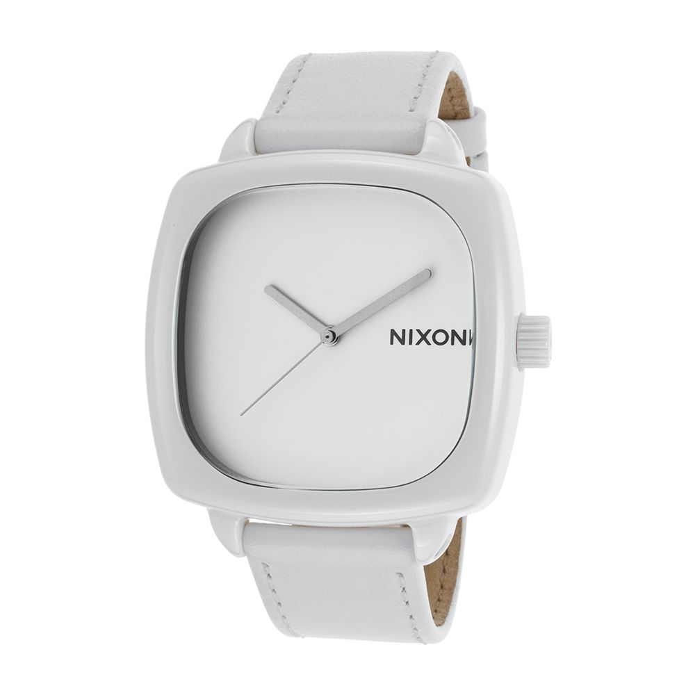 Nixon A262100-00 Shutter White Leather Quartz Men's Watch