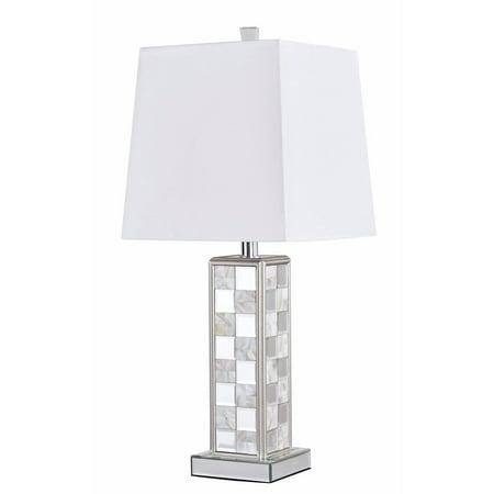 Elegant Lighting Sparkle Collection 1-Light Silver Finish Table Lamp