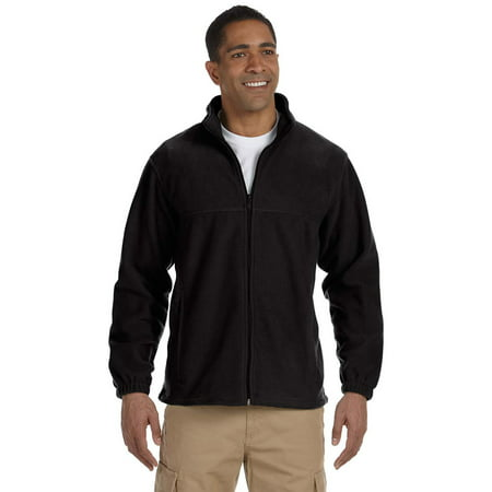 Harriton M990 Mens Full Zip Fleece Jacket - Black -