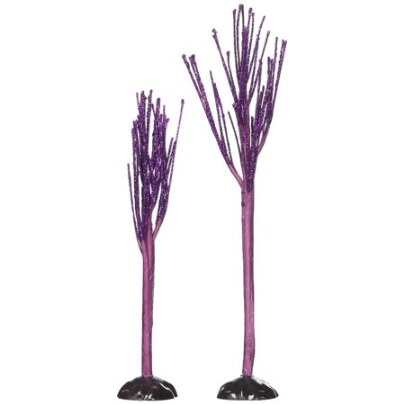 Accessories for Villages Halloween Purple Sparkle Tree (Set of 2), Department 56 has been creating seasonal memories for families since 2635 By Department - Halloween Trees For Sale