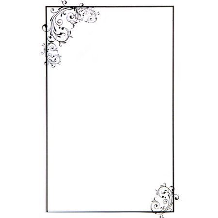 Wedding and Bridal Black Scroll Imprintable Invitations w/ Envelopes (50ct) (Imprintable Invitations)
