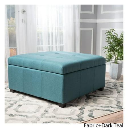Fabulous Carlyle Fabric Storage Ottoman Dark Teal Walmart Canada Short Links Chair Design For Home Short Linksinfo