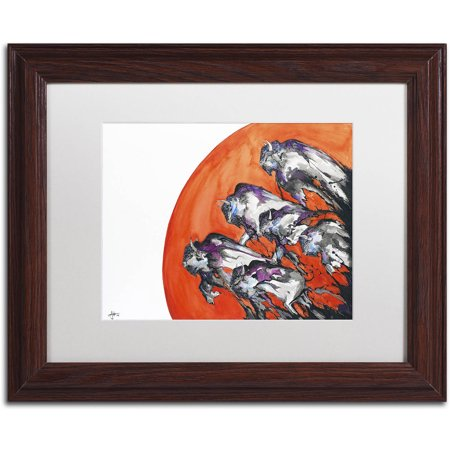 Trademark Fine Art Out Of A Rising Sun Canvas Art By Marc Allante  White Matte  Wood Frame