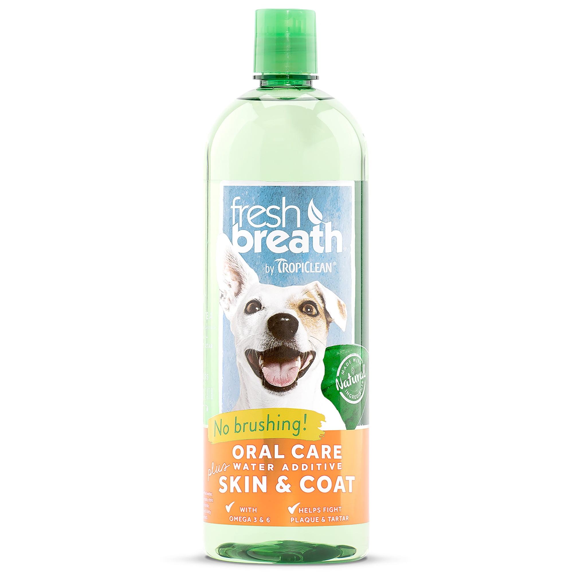 Fresh Breath by TropiClean Oral Care Water Additive Plus Skin & Coat, 33.8 Oz